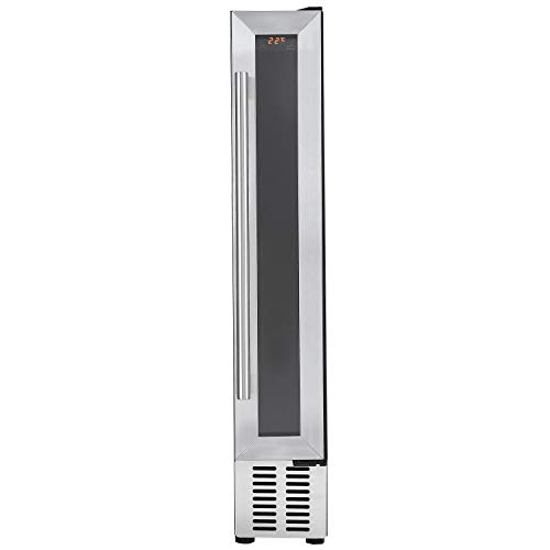 Cookology CWC150SS 15cm Wine Cooler in Stainless Steel, 7 Bottle Undercounter Cabinet from Cookology