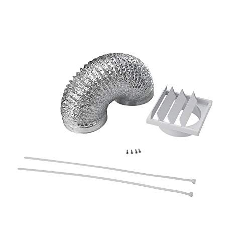 Cookology DK1M150 15cm Universal Ducting Kit | 150mm x 1 Metre Flexible Duct & Outside Wall Vent for Cooker Hoods & Extractor Fans from Cookology