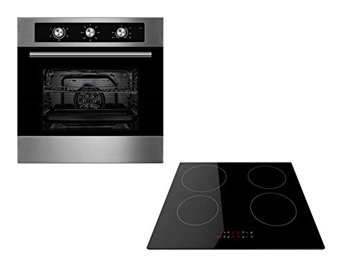 Cookology Oven & Hob Bundle | Stainless Steel Unbranded 60cm Built-in Electric Fan Oven with Minute Minder & Touch Control Induction Hob Pack in from Cookology