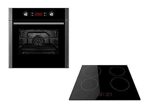 Cookology Pyro Oven & Hob Bundle | Stainless Steel Unbranded Built-in, Electric, 60cm Self-Cleaning Pyrolytic Fan Oven & Touch Control Induction Hob Pack from Cookology