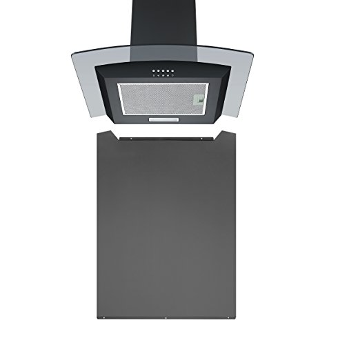 Hood Pack - Unbranded Cookology 60cm Curved Glass Chimney Hood & Splash Back in Black from Cookology