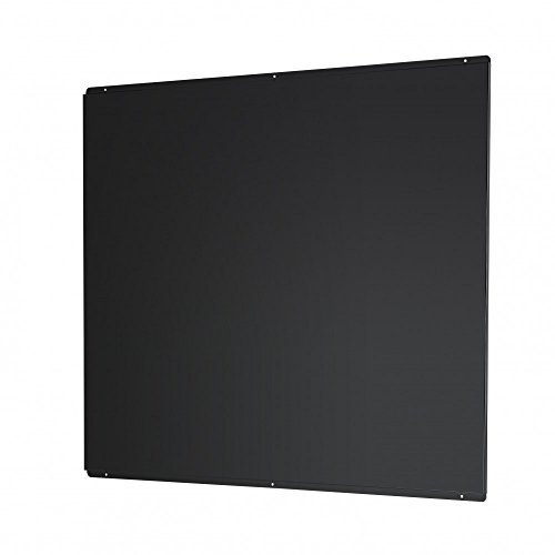 Universal Cookology SB1000BK Splashback to fit 100cm Flat Hood in Black Metal from Cookology