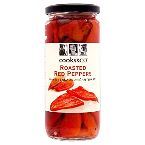 Cooks & Co Roasted Red Peppers (460g) - Pack of 2 from Cooks & Co