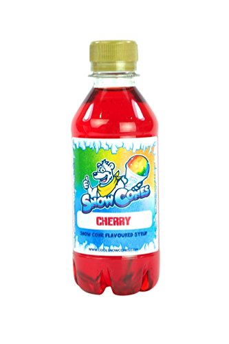 100% Authentic Snow Cone Syrup 250ml Shave Ice Slush (Cherry) from Cool Snow Cones