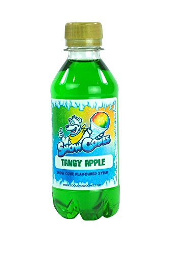 100% Authentic Snow Cone Syrup 250ml Shave Ice Slush (Green Tangy Apple) from Cool Snow Cones