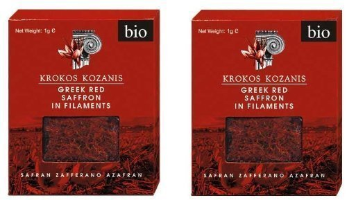 Krokos Kozanis Greek Red Saffron in Filaments 2x1g by Cooperative De Safran [Foods] by Cooperative de Safran [Foods] from Cooperative de Safran [Foods]