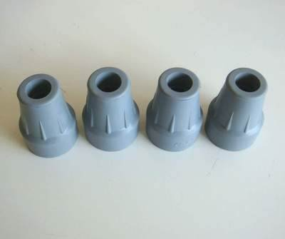 "4 of 18mm Grey Cooopers Ferrules Crutch tip Stick Frame Ends 11/16"" from Coopers"