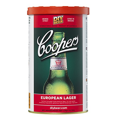 Coopers European Lager - Home Brew Ingredients - 40 Pint Refill Kit from Coopers