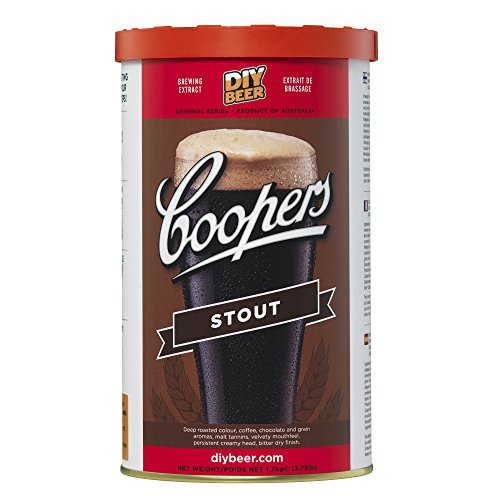 Coopers Stout 40 Pint 1.7kg Home Brew Beer Kit from Coopers