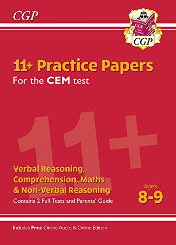 New 11+ CEM Practice Papers - Ages 8-9 (with Parents' Guide & Online Edition) (CGP 11+ CEM) from Coordination Group Publications Ltd (CGP)
