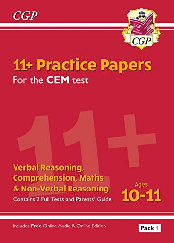 New 11+ CEM Practice Papers: Ages 10-11 - Pack 1 (with Parents' Guide & Online Edition) (CGP 11+ CEM) from Coordination Group Publications Ltd (CGP)