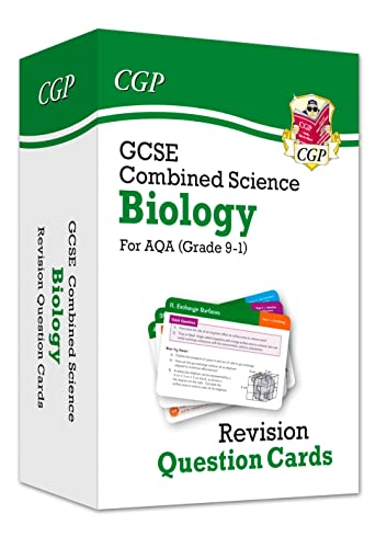 New 9-1 GCSE Combined Science: Biology AQA Revision Question Cards (CGP GCSE Combined Science 9-1 Revision) from Coordination Group Publications Ltd (CGP)