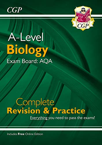 New A-Level Biology: AQA Year 1 & 2 Complete Revision & Practice with Online Edition (CGP A-Level Biology) from Coordination Group Publications Ltd (CGP)