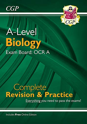 New A-Level Biology: OCR A Year 1 & 2 Complete Revision & Practice with Online Edition (CGP A-Level Biology) from Coordination Group Publications Ltd (CGP)