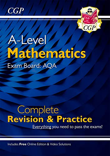New A-Level Maths for AQA: Year 1 & 2 Complete Revision & Practice with Online Edition (CGP A-Level Maths) from Coordination Group Publications Ltd (CGP)