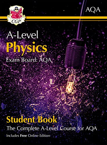 New A-Level Physics for AQA: Year 1 & 2 Student Book with Online Edition (CGP A-Level Physics) from Coordination Group Publications Ltd (CGP)