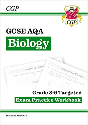 New GCSE Biology AQA Grade 8-9 Targeted Exam Practice Workbook (includes Answers) (CGP GCSE Biology 9-1 Revision) from Coordination Group Publications Ltd (CGP)