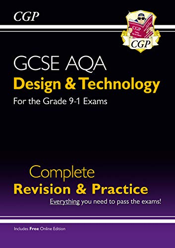 New Grade 9-1 Design & Technology AQA Complete Revision & Practice (with Online Edition) (CGP GCSE D&T 9-1 Revision) from Coordination Group Publications Ltd (CGP)