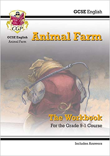 New Grade 9-1 GCSE English - Animal Farm Workbook (includes Answers) (CGP GCSE English 9-1 Revision) from Coordination Group Publications Ltd (CGP)