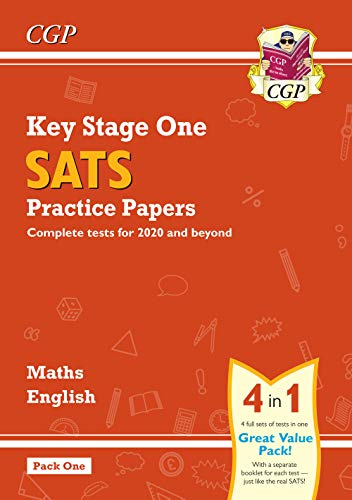 New KS1 Maths and English SATS Practice Papers Pack (for the 2019 tests) - Pack 1 (CGP KS1 SATs Practice Papers) from Coordination Group Publications Ltd (CGP)