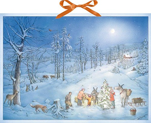 Coppenrath Christmas Surprise for the Animals Huge Traditional German Advent Calendar 52 cm wide x 38 cm from Coppenrath