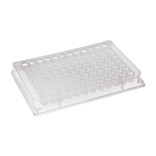 Corning 2504 Polystyrene Flat Bottom 96 Well Universal-BINDStripwell Microplate, Without Lid (Case of 50) from Corning