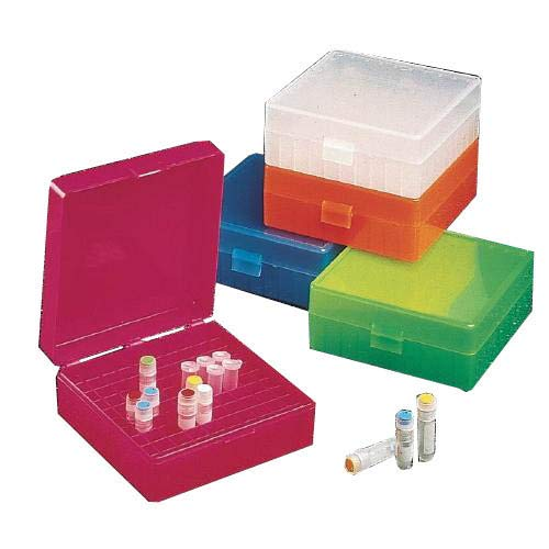 Corning 2591H01 Labnet Polypropylene Micro Tube Storage Box with Telescoping Lid, 50 X 5 mL Size from Corning