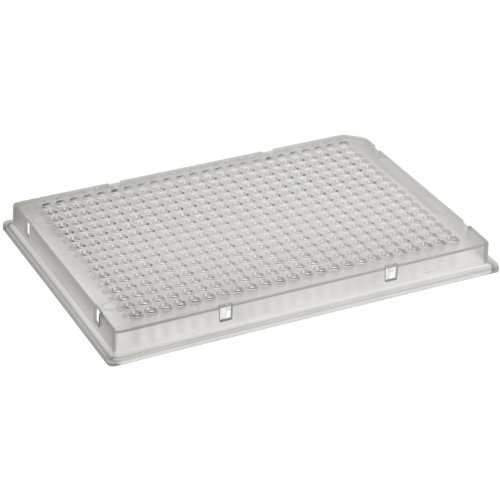 Corning 3656 Polypropylene Round Bottom 384 Well Clear Microplate, Without Lid, Not Treated (Case of 100) from Corning