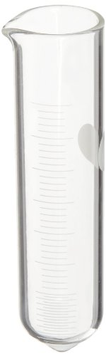 Corning Pyrex 8340-40 40ml Heavy Duty Conical Cylindrical Centrifuge Tube with White Graduations and Pourout Spout (Case of 12) from Corning