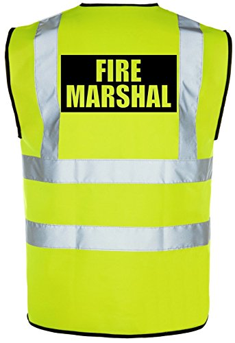 FIRE MARSHAL Hi-Vis High-Viz Visibility Safety Vest/Waistcoat | Yellow/Orange from Corporate Togs