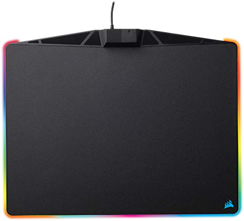 Corsair MM800 RGB Polaris Hard Surface Mousepad (15 Zone RGB Lighting, Low Friction Micro-Textured Surface, Built-In USB Pass-through Port, 400 x 340 x 35 mm) - Black from Corsair
