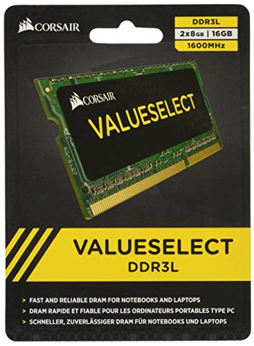 Corsair CMSO16GX3M2C1600C11  Value Select 16GB (2x8GB) DDR3 1600Mhz CL11 Mainstream SODIMM Notebook Memory Kit - Green from Corsair