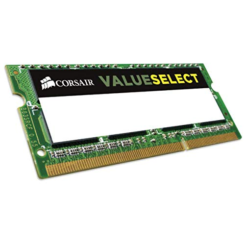 Corsair CMSO4GX3M1C1600C11 Value Select 4GB (1x4GB) DDR3L 1600Mhz CL11 Mainstream SODIMM Notebook Memory Module -Green from Corsair