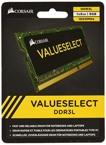 Corsair CMSO8GX3M1C1600C11 Value Select 8GB (1x8GB) DDR3 1600Mhz CL11 Mainstream SODIMM Notebook Memory Module Green from Corsair