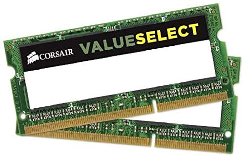 Corsair CMSO8GX3M2C1600C11 Value Select 8GB (2x4GB) DDR3 1600Mhz CL11 Mainstream SODIMM Notebook Memory Kit -Green from Corsair