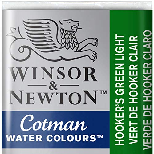 Winsor & Newton Cotman Watercolour Paint Half Pan – Hookers Green Light 314 from Winsor & Newton