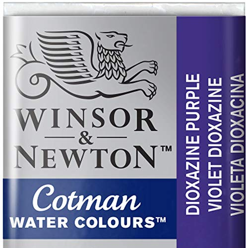 Winsor and Newton Cotman Half Pan Dioxazine Violet from Winsor & Newton