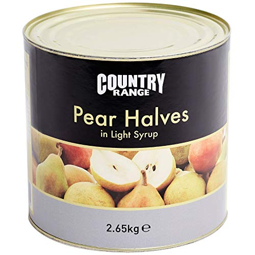 Country Range Pear Halves in Syrup - 1x2.6kg from Country Range