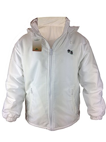 Country Terrain White Mesh Lined Bowling Jacket Part of The Collection Full Zip Hooded Coat Light Weight Bowls Lawn Green Sport Hood Outdoor Top with Black Logo Waterproof from Country Terrain