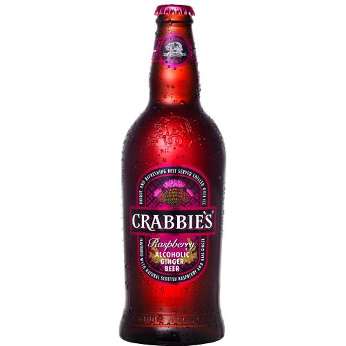 Crabbies Scottish Raspberry Alcoholic Ginger Beer (8 x 500ml Bottles) from Crabbies