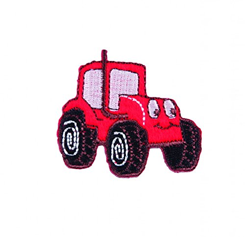 Craft Factory Iron or Sew On Fabric Motif Applique Red Tractor - each from Craft Factory