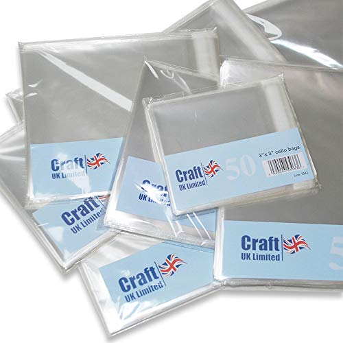"Craft UK 878-50 8x8"" Cello Bags from Craft UK"