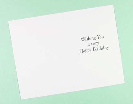 20 x Printed Birthday Inserts For Greetings Cards(98x146mm) from Craft