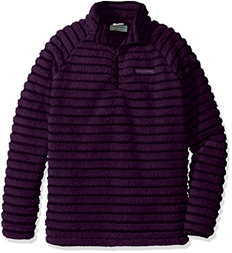 Craghoppers Girl's Appleby Half Zip Fleece Jacket - Dark Plum Combo, Size 11 - 12 from Craghoppers