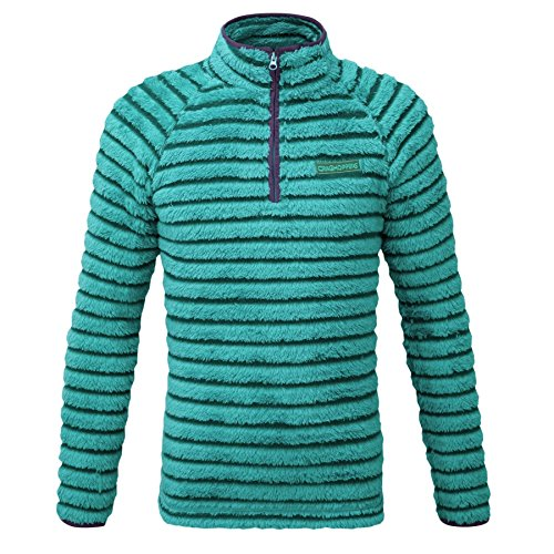 Craghoppers Girl's Appleby Half Zip Fleece Jacket - Bright Turquoise Combo, Size 9 - 10 from Craghoppers