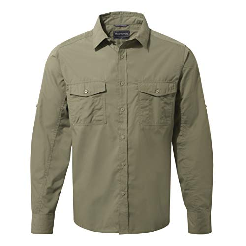 Craghoppers Kiwi Men's Long Sleeved Shirt - Pebble, Medium from Craghoppers