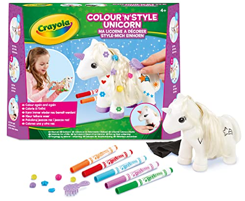 Crayola Colour n Style Unicorn Craft Kit with Washable Felt Tip Colouring Pens from CRAYOLA