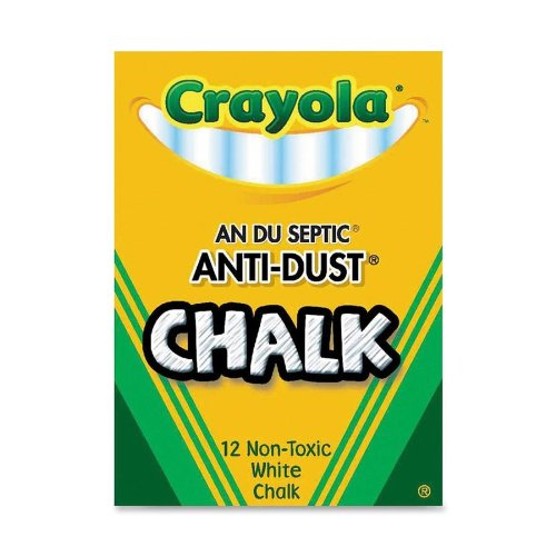 Crayola White Chalk - 12 Stick Pack from Crayola
