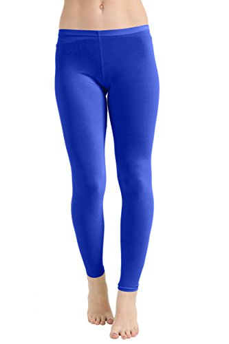 Crazy Chick® Ladies Neon Lycra Leggings 1980s Disco Rave Hen Nights Fancy Dress Party UK Size 8-14 (Medium/Large, Royal Blue) from Crazy Chick