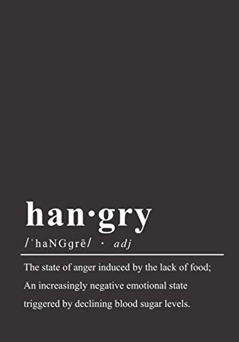 The Hangry Dictionary Definition Create Your Own Cookbook: A Blank Recipe Journal from CreateSpace Independent Publishing Platform
